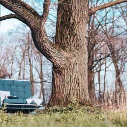 Loungebank schommelstoel afsluitbaar. Waterdicht all-weather