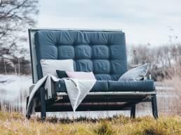 Loungebank afsluitbaar, loungeset, waterdicht, waterbestendig, all weather, sunbrella.